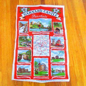 Vintage British Tea Towel Barnard Castle